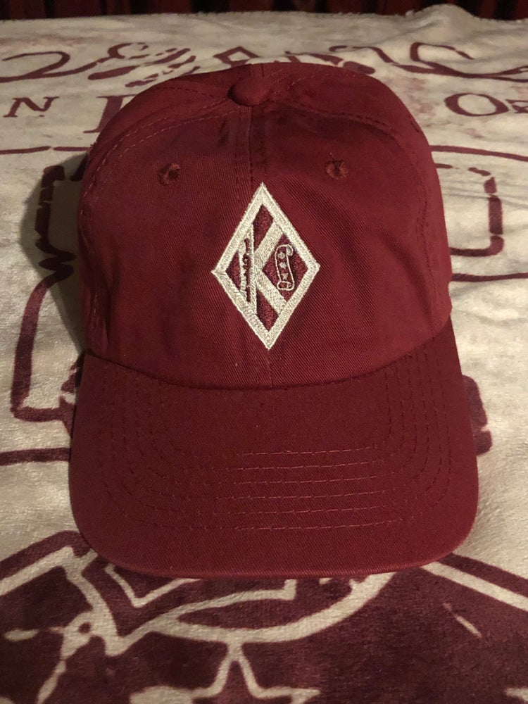 Image of CRIMSON DIAMOND W/SCROLL RELAXED FIT CAP