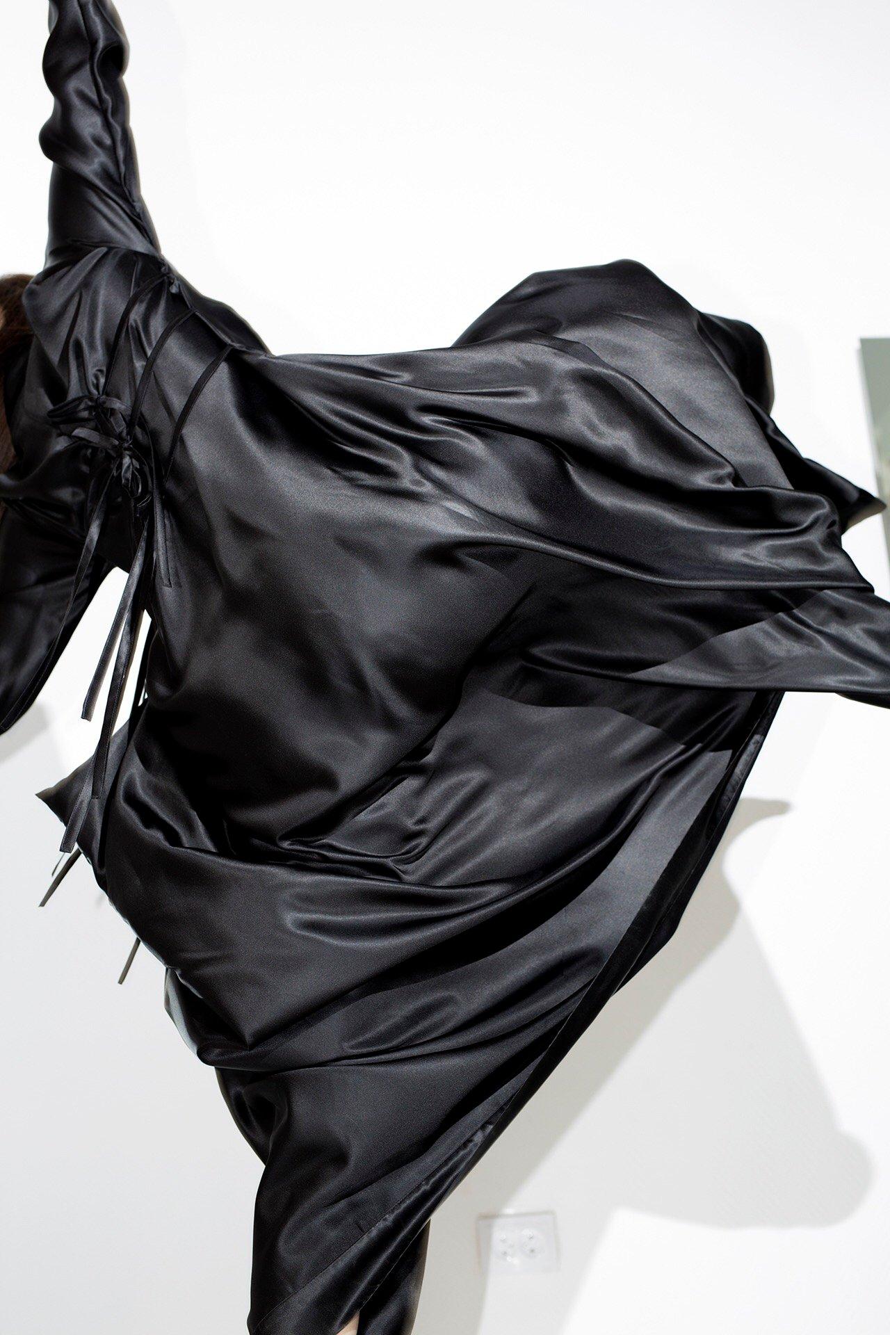 Image of Silk kimono dress