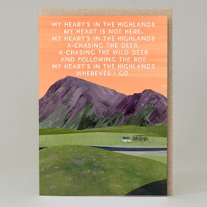 Image of My heart is in the highlands (Card)
