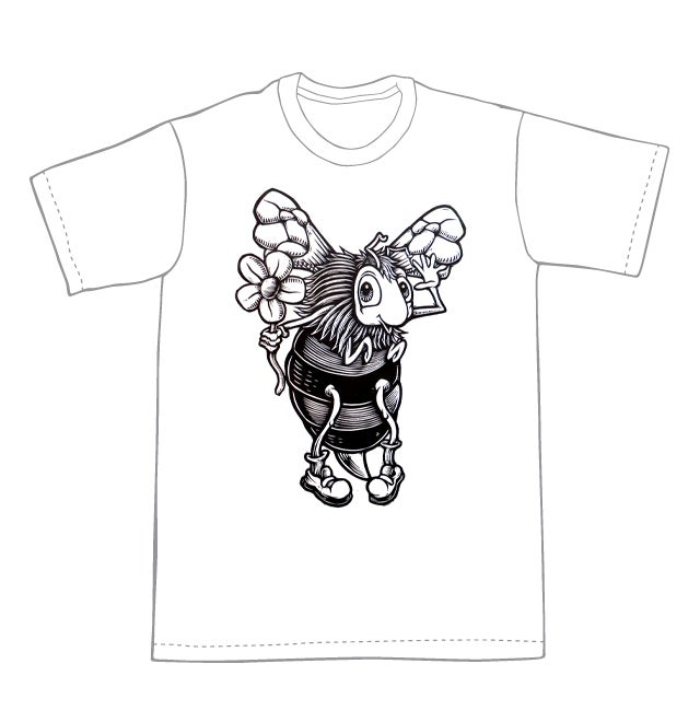 The flower and the bee T-shirt (B3) **FREE SHIPPING**