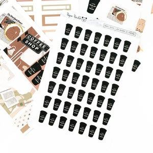 Image of But First, Coffee Sticker Kit