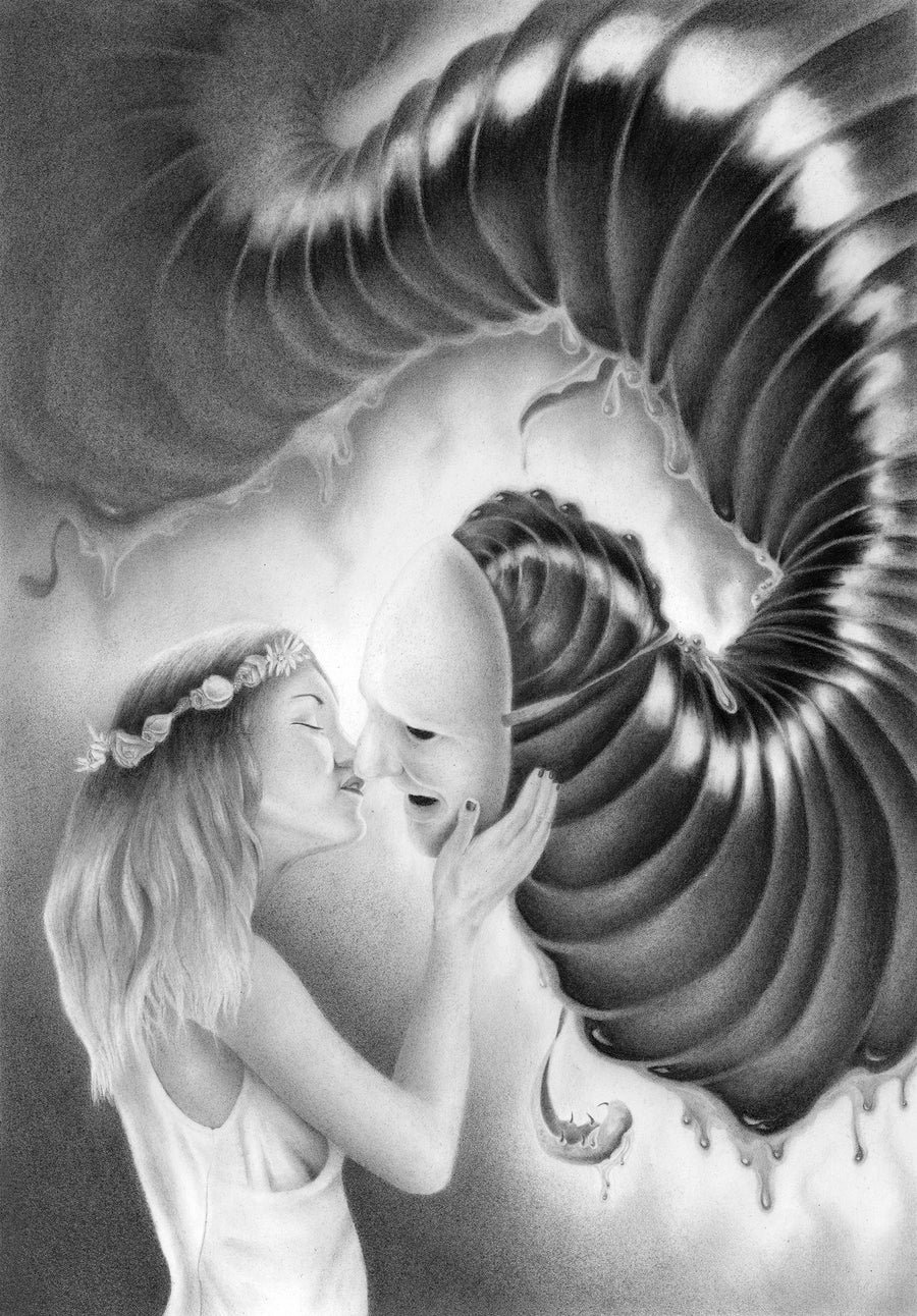 Image of THE KISS (Original pencil drawing)