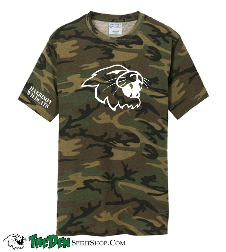Image of Camo Wildcat Tee, Adult