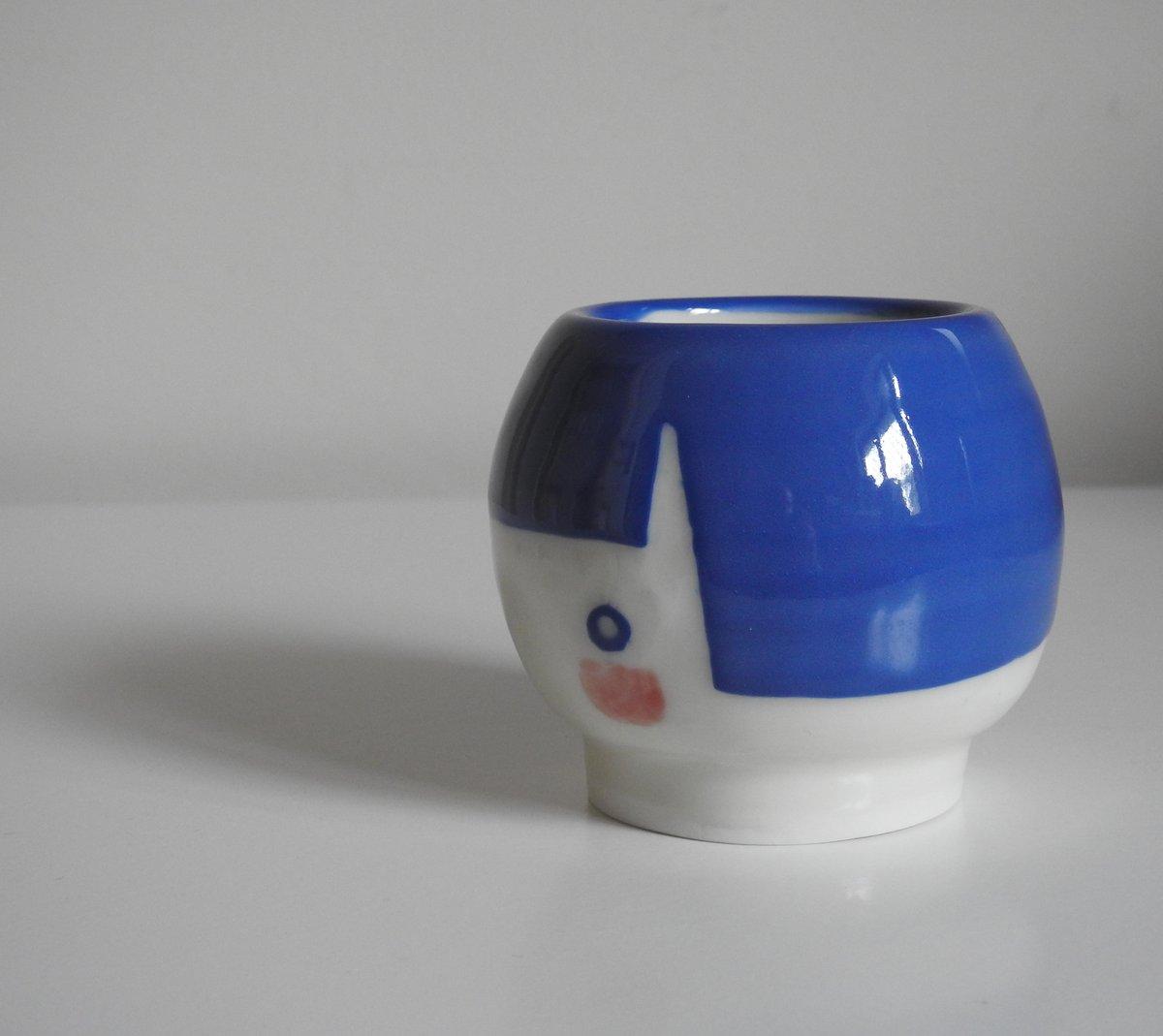 Image of 'flower face' vase