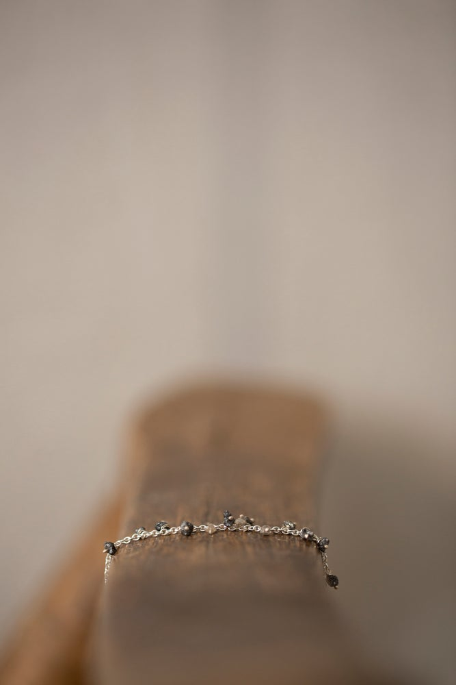 Image of BRACELET WITH A SERIES OF RAW DIAMONDS by Stephanie Schneider