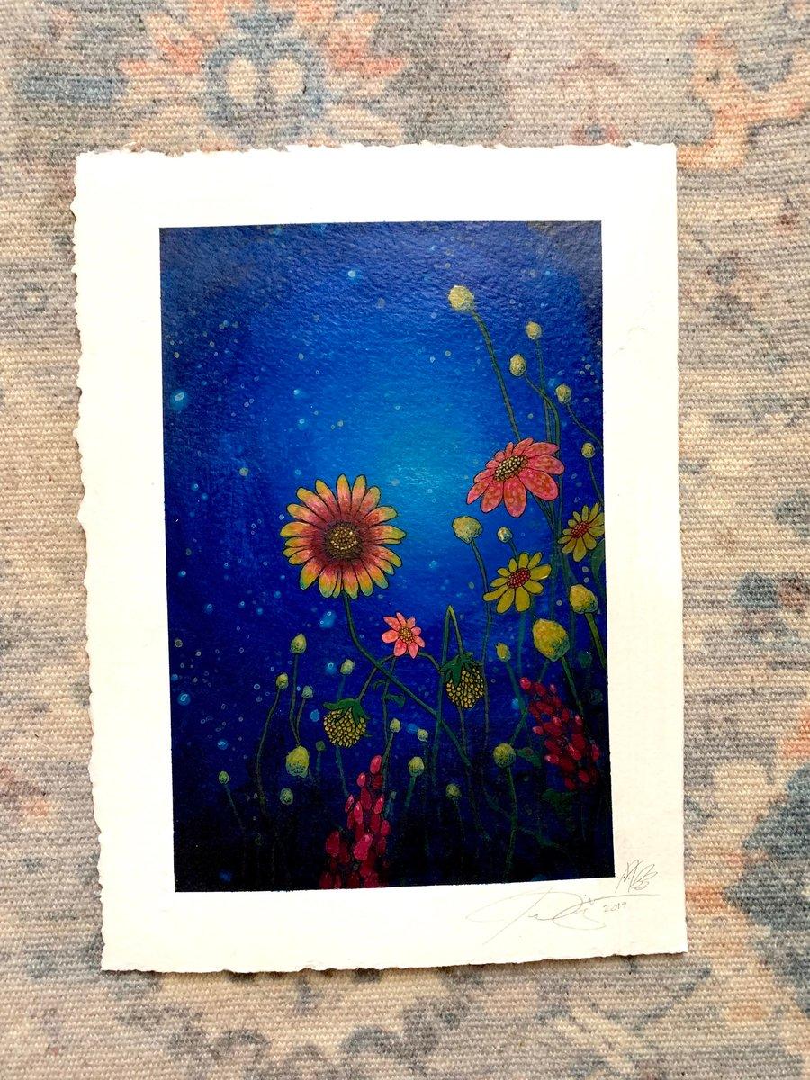 """Image of Wildflowers """"8x11"""" Original painting"""
