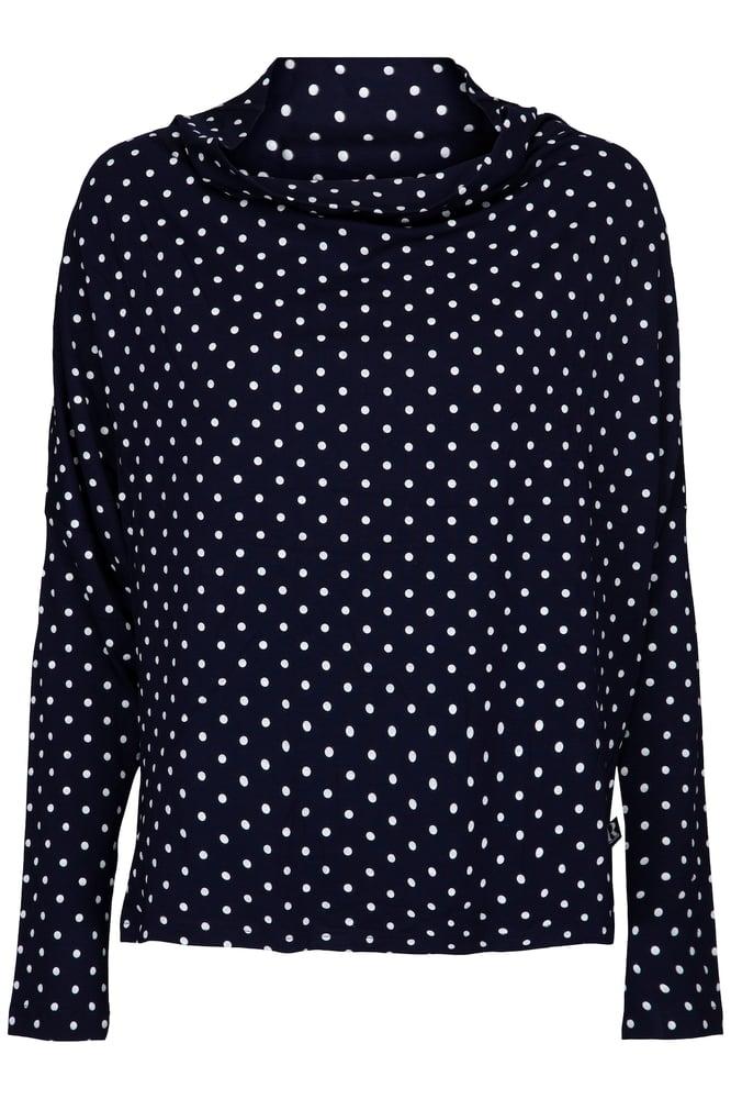 Image of Prikket bluse med fald