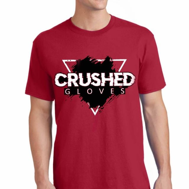 Image of Red Crushed Gloves Tee Shirt