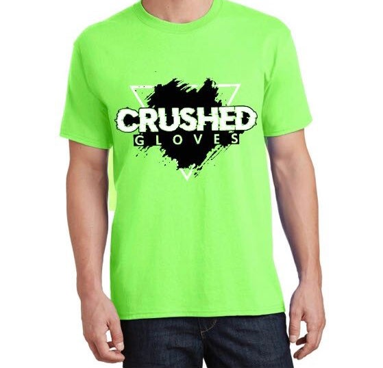 Image of Neon Green Crushed Gloves Tee Shirt