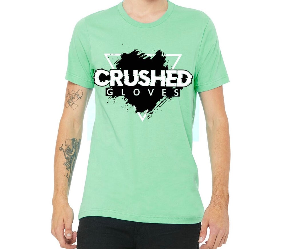 Image of Mint Crushed Gloves Tee Shirt
