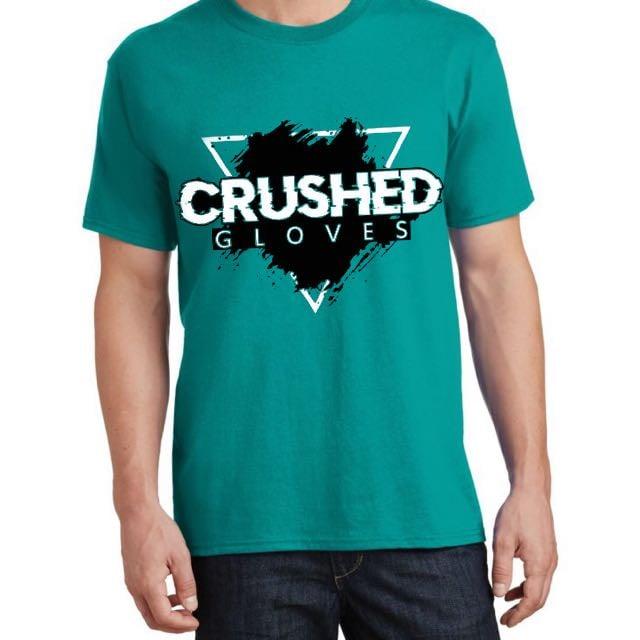 Image of Dark Turquoise Crushed Gloves Tee Shirt