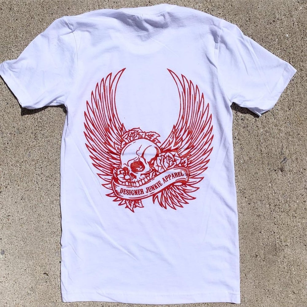 Image of Skulls And Angles Tee ( Red )