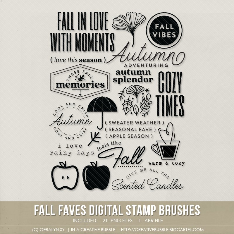 Image of Fall Faves Stamp Brushes (Digital)