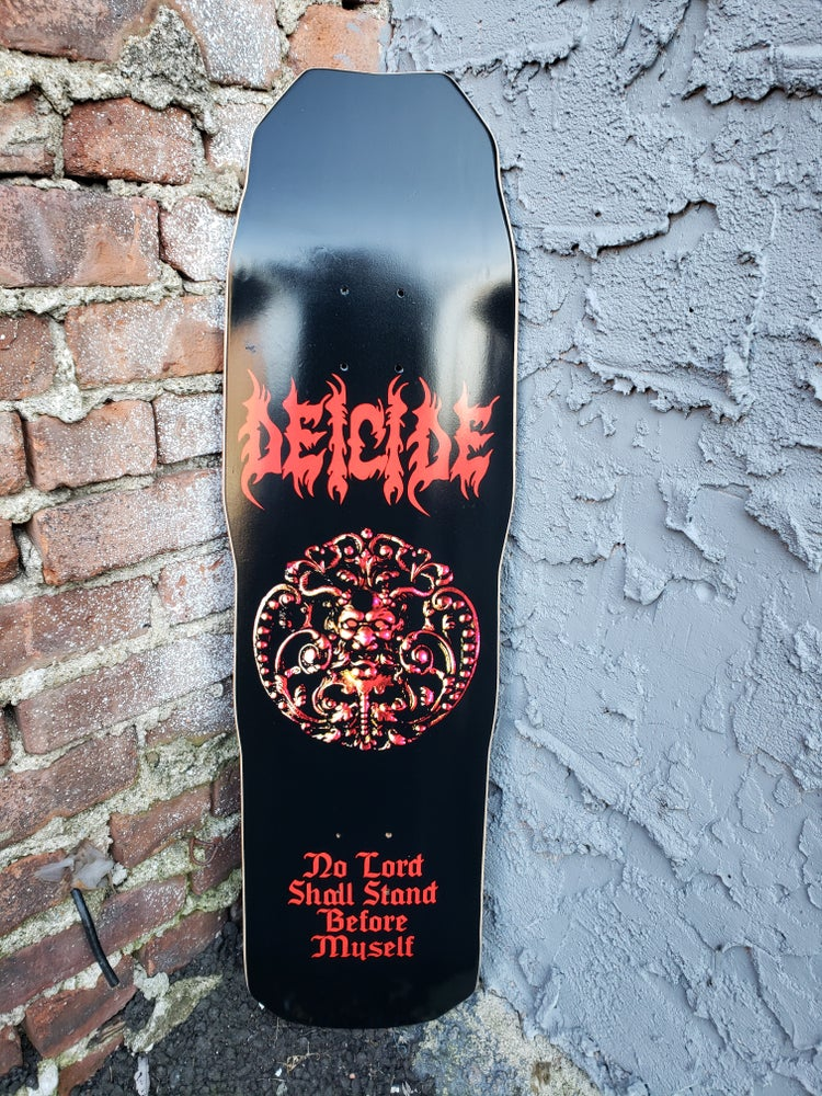 Image of DEICIDE 1989 DEICIDE ALBUM SKATEBOARD