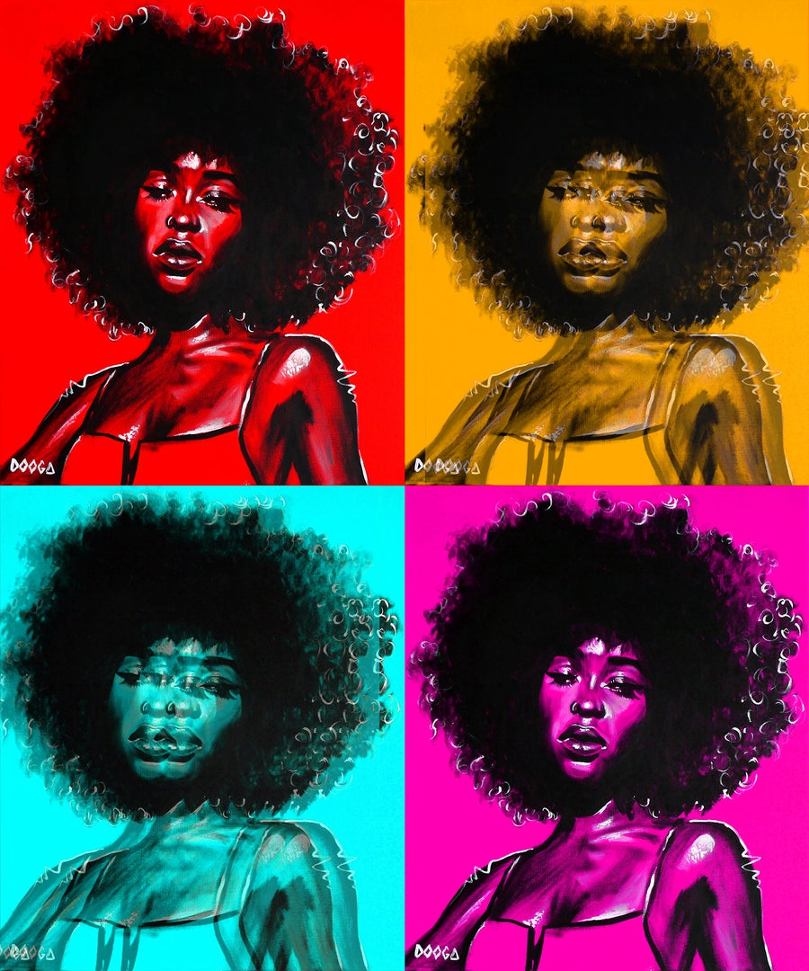 Image of afro pop - canvas print