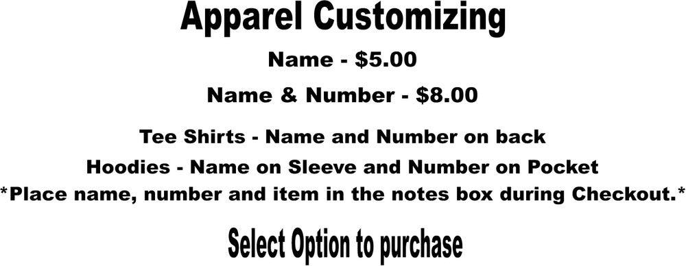Image of Apparel Customizing ($5.00-$8.00)
