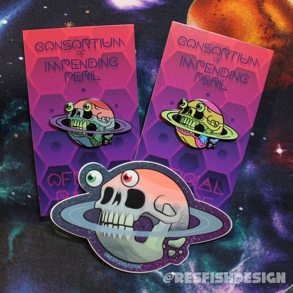 Image of Peril Planet Pin