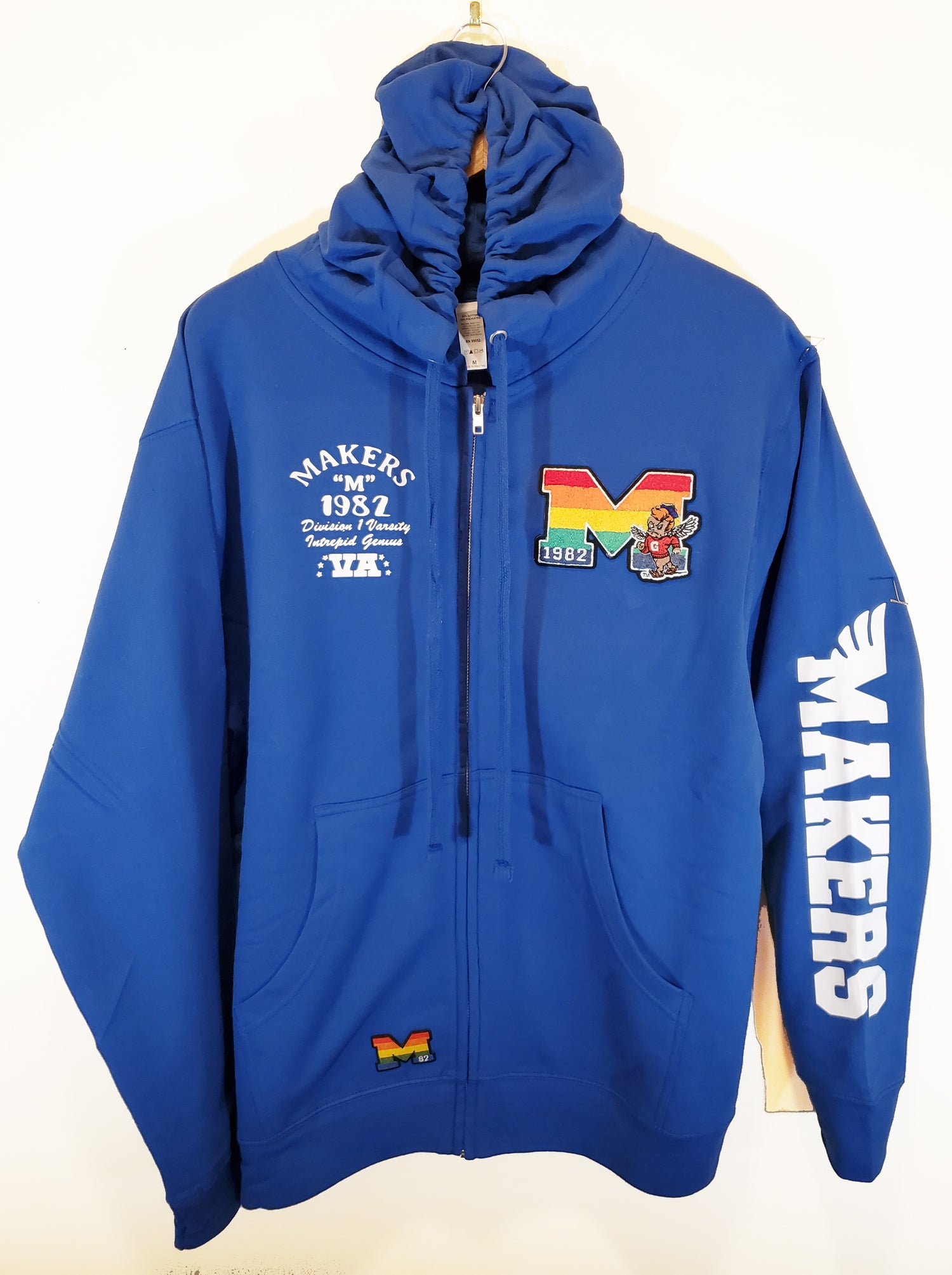 Image of Makers Division 1 Varsity hoodie-Cerulean blue