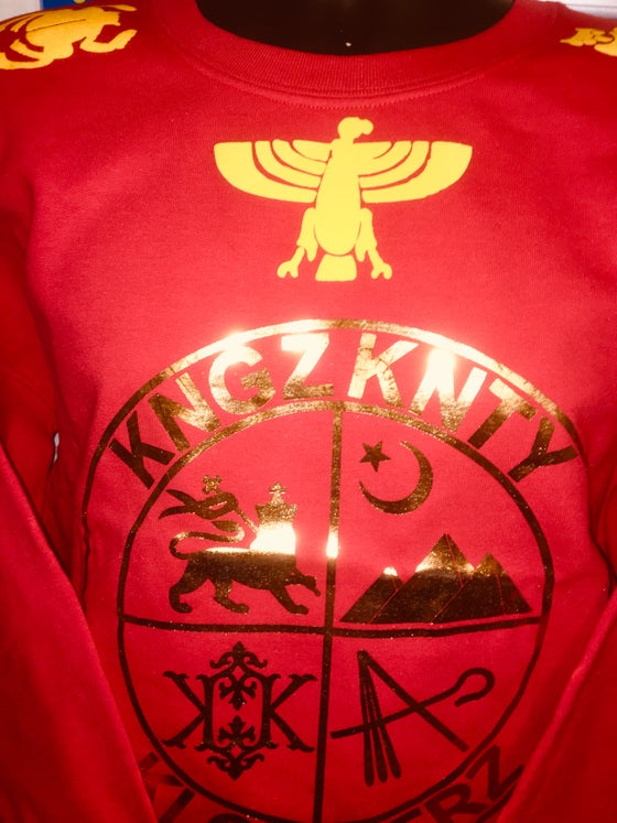 Image of KNGZ KNTY COAT OF ARMS SWEATSHIRT