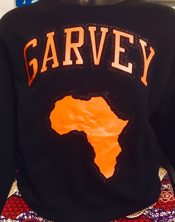Image of GARVEY BLK GLITTER SWEATSHIRT