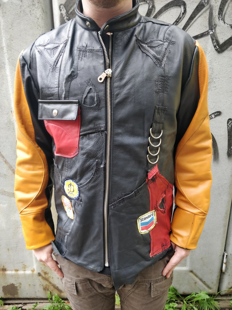 Image of Speedrun leather jacket