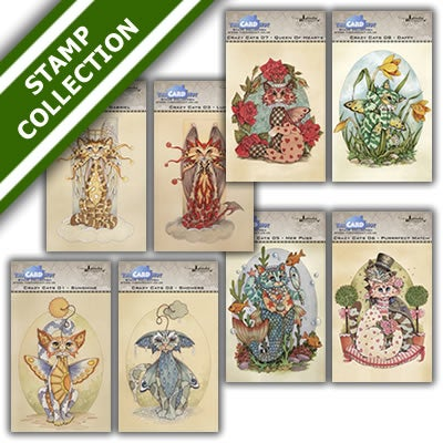 Image of Linda Ravenscroft Crazy Cats Stamp Bundle 1