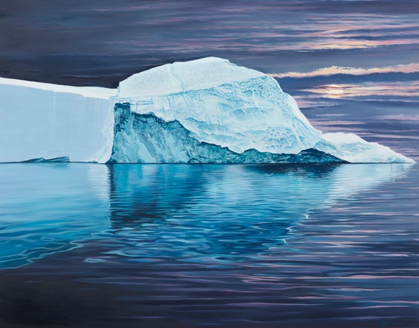 Image of Moonlit iceberg ALL SIZES giclée print