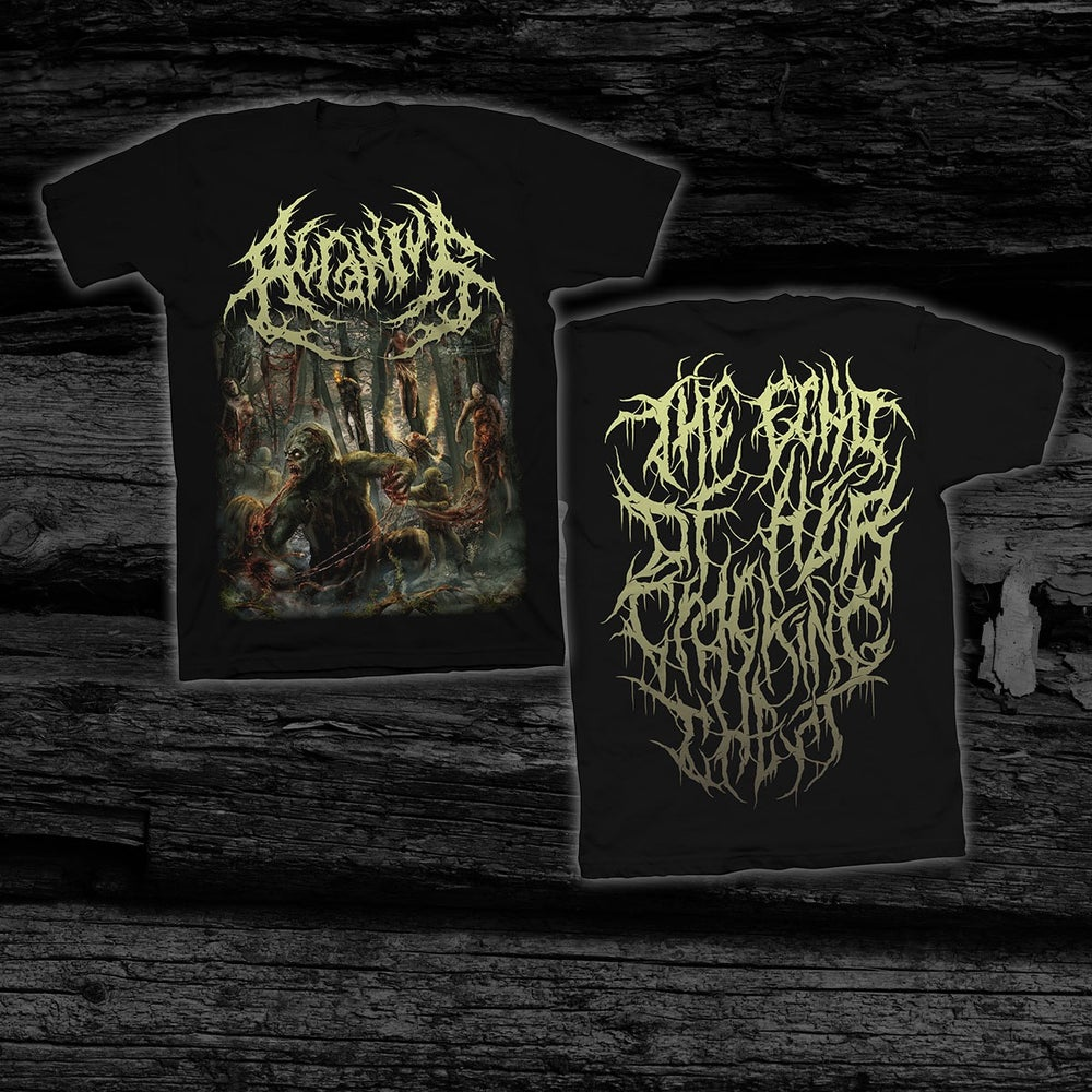 Image of ACRANIUS - The Echo Of Her Cracking Chest [Anniversary Edition] T-Shirt