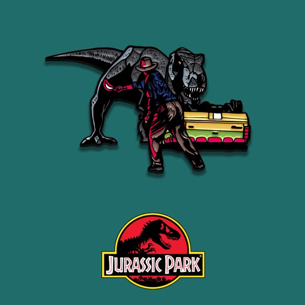 Image of Jurassic Park enamel pin badge (officially licensed)