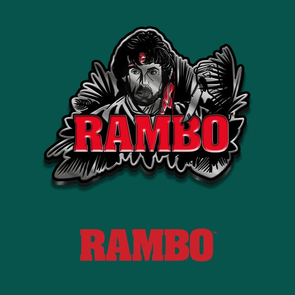 Image of Rambo enamel pin badge (officially licensed)
