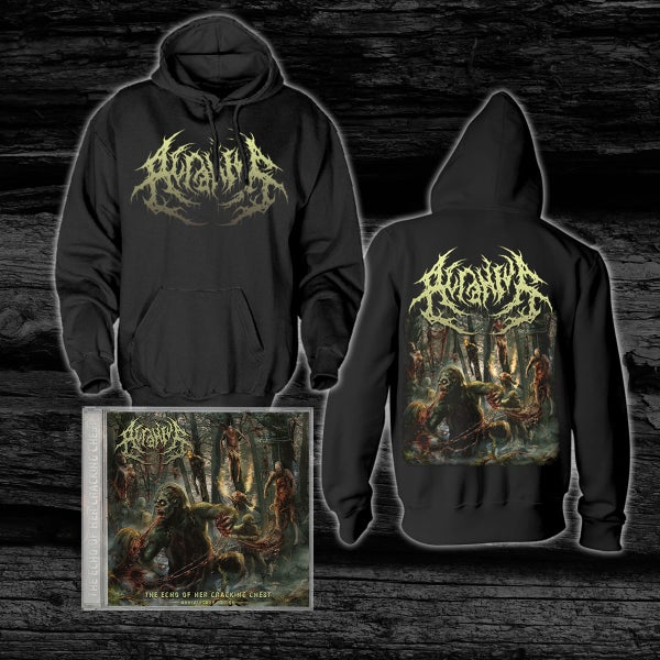 Image of ACRANIUS - The Echo Of Her Cracking Chest [Anniversary Edition] pre-order Hoodie + CD