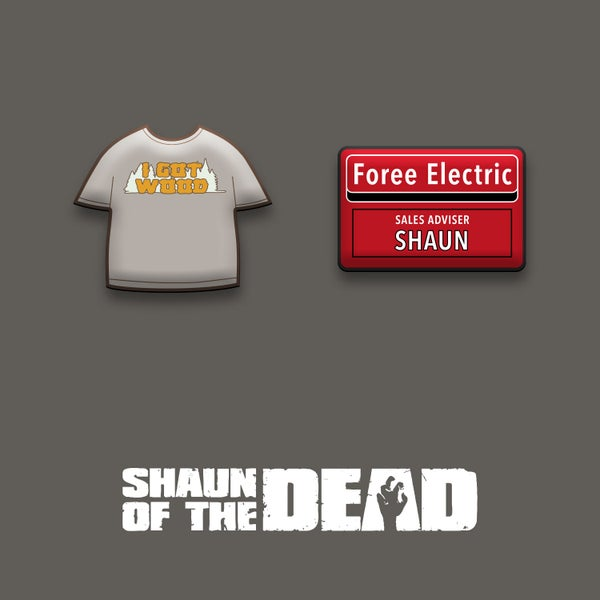 Image of Shaun of the Dead enamel pin badge set (officially licensed)