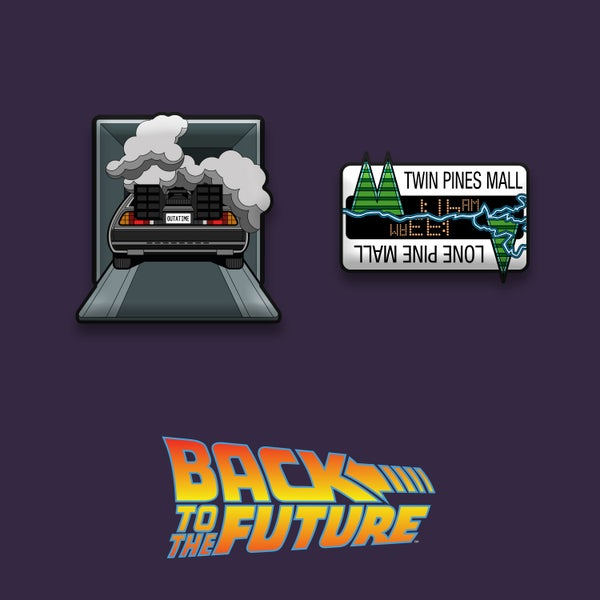 Image of Back to the Future enamel pin badge set (officially licensed)