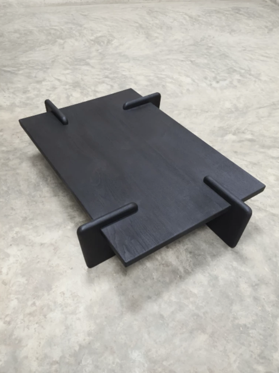 Image of X+L coffee table 01 in black teak