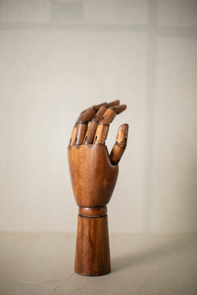 Image of Left wooden hand
