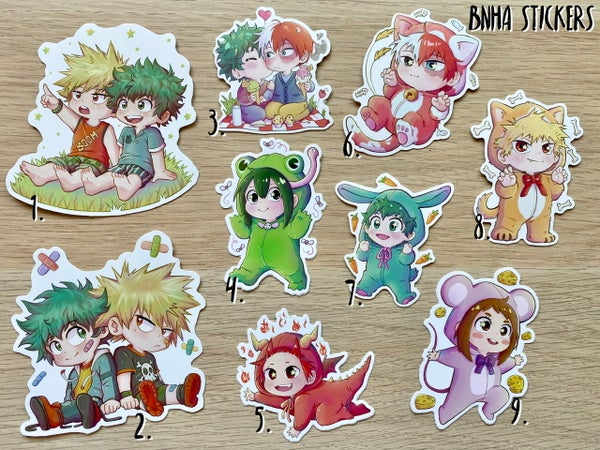 Image of BNHA Stickers