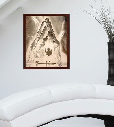 "Image of Swinging into Light - Digital Photo Art - 5x7"" print in 8x10"" white mat"