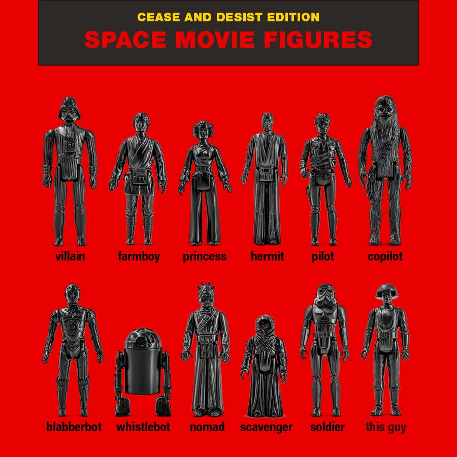 Image of SPACE MOVIE FIGURES -  C&D EDITION