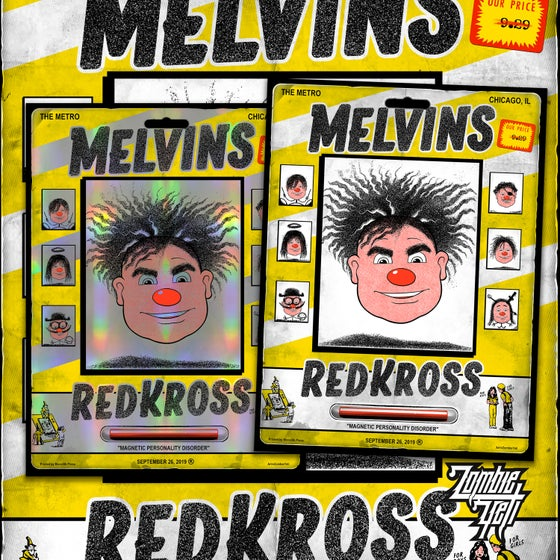 Image of Melvins ReddKross 9/26 At The Metro Gig Poster