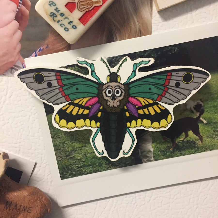 Image of Goth Moth Magnet