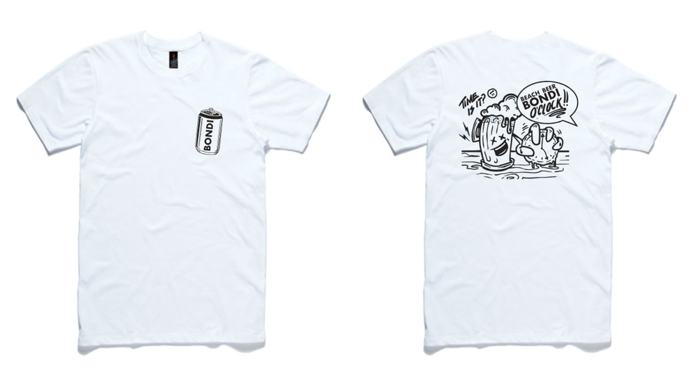 Image of Beer O'clock Tee - White