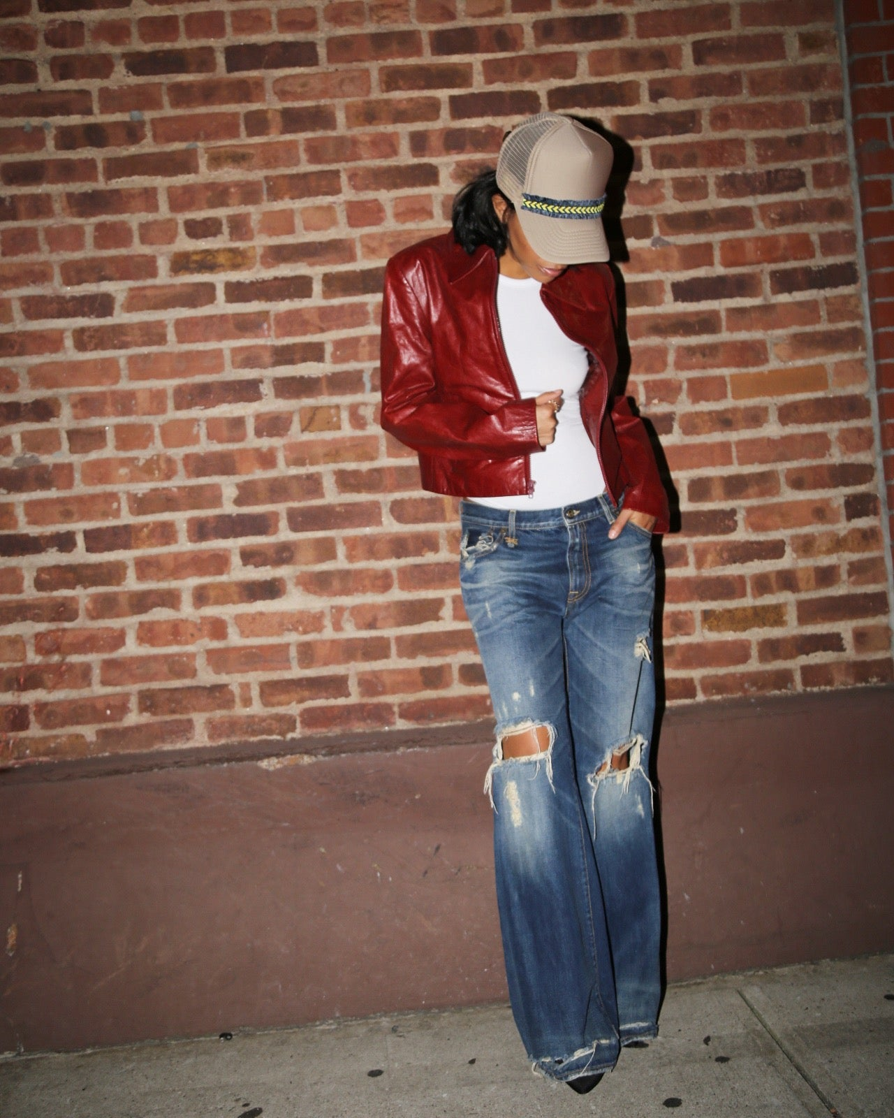 Image of R13 FLARE DISTRESSED JEAN