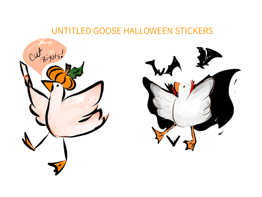 Image of  HALLOWEEN GOOSE STICKERS