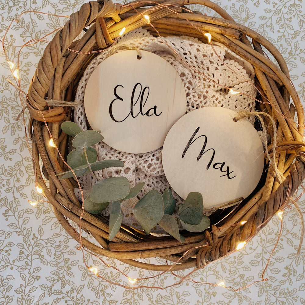Image of Cut out timber ornament/basket tag
