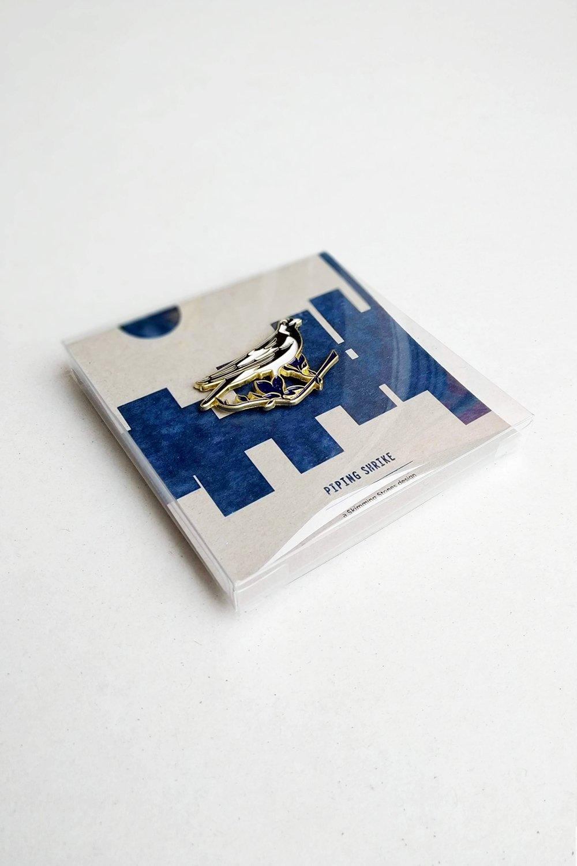 Image of Piping Shrike - Pin