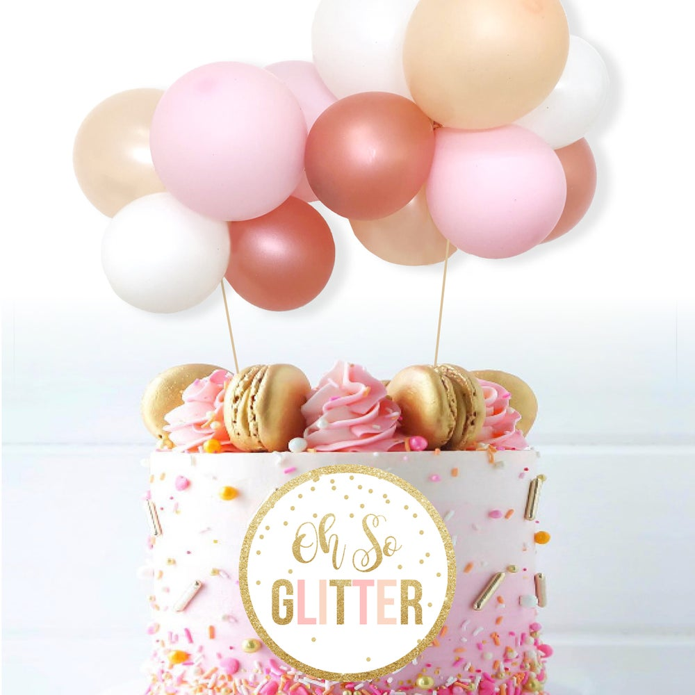 Image of Mini Balloon Cake Garland - Rose Gold