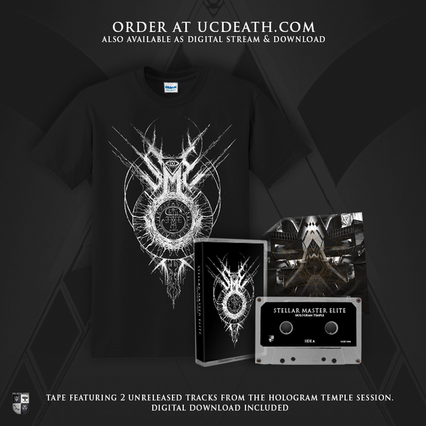 Image of STELLAR MASTER ELITE - HOLOGRAM TEMPLE - CASSETTE & SHIRT BUNDLE