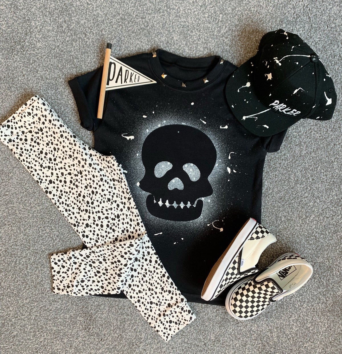 Image of Black Skull Tee