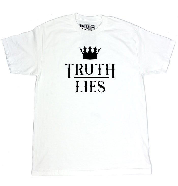 Image of TRUTH OVER LIES TEE - WHITE