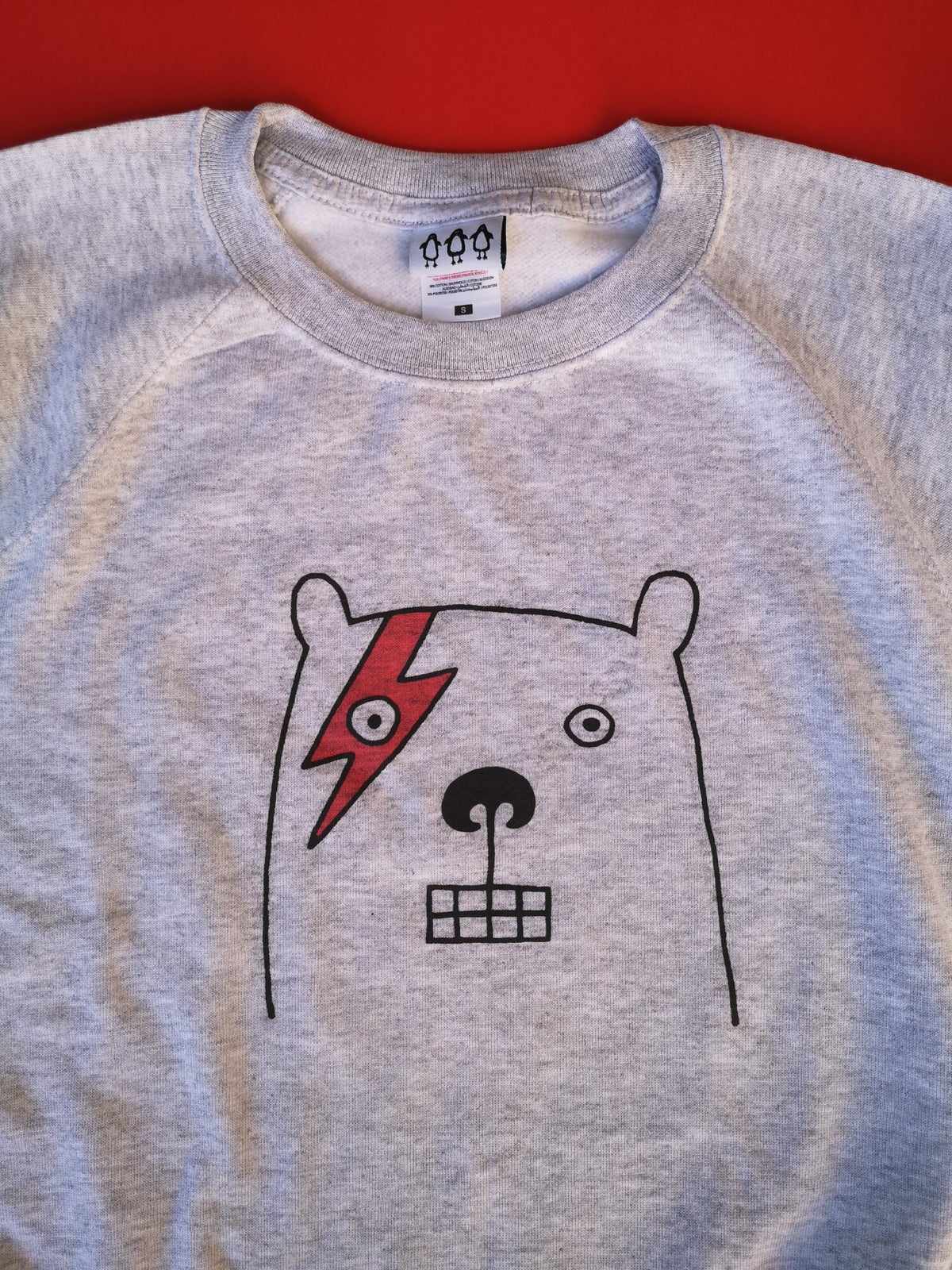 Image of Bowie bear unisex sweatshirt